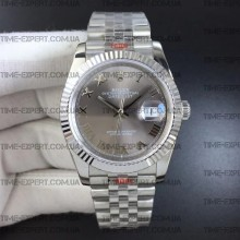 Rolex DateJust 36 126234 Gray Dial Roman Markers