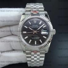 Rolex DateJust 36 126234 Steel Black Dial Stick Markers on Jubilee Bracelet