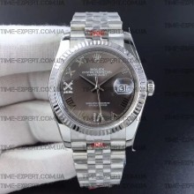 Rolex DateJust 36 126234 Steel Gray Dial Diamonds Roman Markers