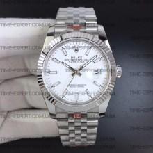 Rolex DateJust 36 126234 Steel White Dial Stick Markers on Jubilee Bracelet