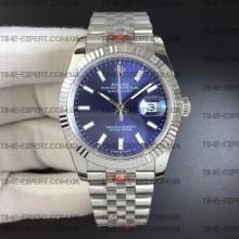 Rolex DateJust 36 126234 Steel Blue Dial Stick Markers on Jubilee Bracelet