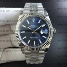 Rolex DateJust 41 126334 Blue Dial on Jubilee Bracelet