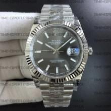 Rolex DateJust 41 126334 Gray Dial on Jubilee Bracelet