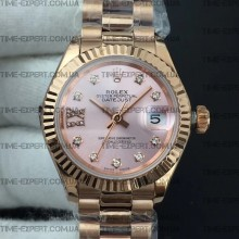 Rolex DateJust 28mm Diamond Bezel