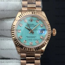Rolex DateJust 28mm Ice Blue Textured Dial