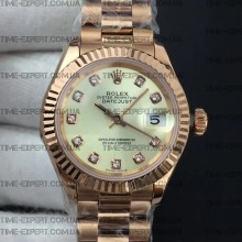 Rolex DateJust 28mm Diamond White Dial Bracelet ETA2671