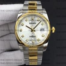 Rolex DateJust 36 116234 Silver Jubilee Dial On Oyster Bracelet 3135