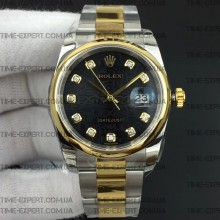 Rolex DateJust 36 116234 Black Jubilee Dial On Oyster Bracelet 3135