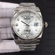 Rolex DateJust 36 116234 Diamond Silver Jubilee Dial Oyster Bracelet 3135