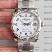 Rolex DateJust 36 116200 White Dial Diamonds&Arabic numeral Markers Oyster Bracelet A3135