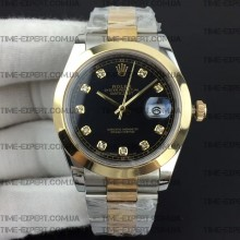 Rolex DateJust II 41mm Black Diamond Dial Oyster Bracelet 3235