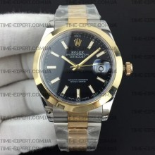 Rolex DateJust II 41mm Black Sticks Dial Oyster Bracelet 3235