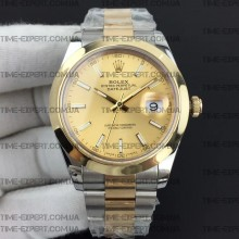 Rolex DateJust II 41mm Gold Sticks Dial Oyster Bracelet 3235