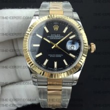 Rolex DateJust II 41mm Black Sticks Dial Bicolor Oyster Bracelet 3235