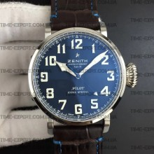 Zenith Pilot Type 20 Extra Special 45mm Blue Dial on Brown Leather
