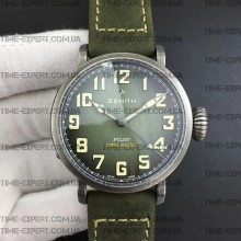 Zenith Pilot Type 20 Extra Special 40mm Vintage Case Green