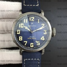 Zenith Pilot Type 20 Extra Special 40mm Vintage Case Blue