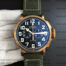Zenith Pilot Type 20 Extra Special 45mm Bronze Сase on Green Nubuck Strap