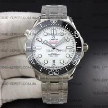 Omega Seamaster Diver 42mm Black Ceramic White Dial on Bracelet