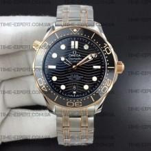 Omega Seamaster Diver 42mm Black Ceramic Bicolor on Bracelet