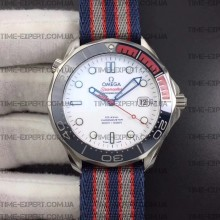 Omega Seamaster Diver 41mm Commander's Watch Nylon Strap