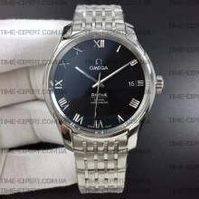 Omega De Ville 41mm Hour Vision Black Dial on Bracelet