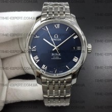 Omega De Ville 41mm Hour Vision Blue Dial on Bracelet