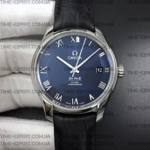 Omega De Ville 41mm Hour Vision Blue Dial on Black Strap