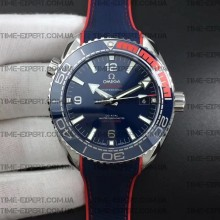 "Omega Planet Ocean 43.5mm ""Pyeongchang 2018"" Blue Dial on Blue Nylon Strap 8900"