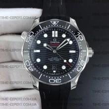 Omega Seamaster Diver 42mm Diver 300M Black Dial on Rubber Strap 8800