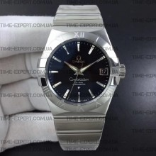 Omega Constellation 38mm Black Dial Stick Markers on Bracelet 8500