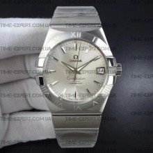 Omega Constellation 38mm Silver Dial Stick Markers on Bracelet 8500