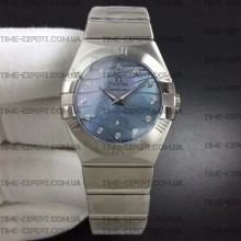 Omega Constellation 27mm Ladies Blue Dial on Bracelet ETA Quartz