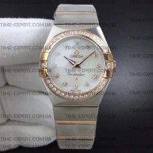 Omega Constellation 27mm Ladies White Dial on Bracelet ETA Quartz