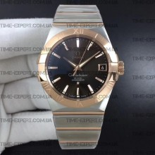 Omega Constellation 38mm Brown Dial Stick Markers on Bracelet 8500