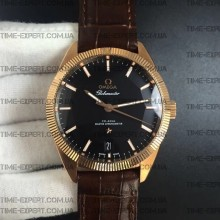 Omega Globemaster Master Chronometer Black Dial on Brown Leather Strap 8901