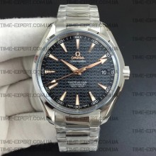 Omega Aqua Terra 150M 41mm Black Wave Textured Dial on Bracelet 8500