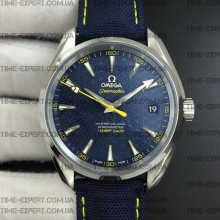 "Omega Aqua Terra 150M 41mm 15007 Gauss ""Spectre"" Blue Textured Dial on Blue Nylon Strap"