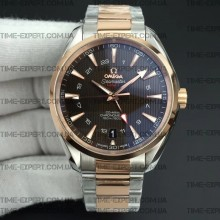 Omega Aqua Terra 150M GMT 43mm Brown Textured Dial
