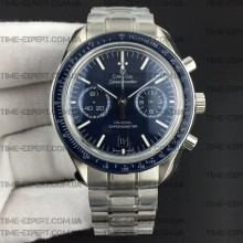 Omega Speedmaster 41.5mm Moonwatch Co-Axial Blue Dial on Bracelet