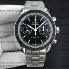 Omega Speedmaster 41.5mm Moonwatch Co-Axial Black Dial White Logo on Bracelet