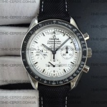 Omega Speedmaster 42mm Snoopy White Dial on Black Nylon Strap Manual Winding Chrono