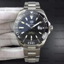 Tag Heuer 43mm Aquaracer Calibre 5 Black Ceramic Bezel Black Dial on Bracelet