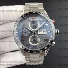 Tag Heuer 43mm Carrera Calibre 16 Day-Date Ceramic Bezel Gray Dial on Bracelet