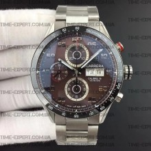 Tag Heuer 43mm Carrera Calibre 16 Day-Date Ceramic Bezel Brown Dial on Bracelet