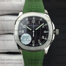 Patek Philippe 40mm Aquanaut 5167 Green Rubber Strap
