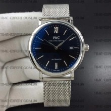 Iwc 39mm Portofino Automatic Black Dial on Bracelet