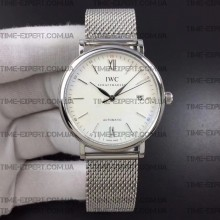 Iwc 39mm Portofino Automatic White Dial on Bracelet
