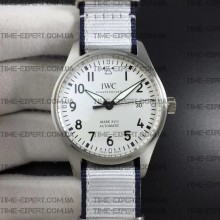 Iwc 40mm Pilot`s Mark XVIII White Dial on White Nylon Strap Ref.IW327002