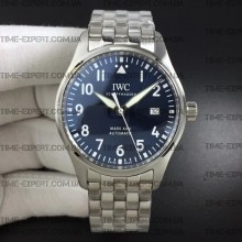 Iwc 40mm Pilot`s Mark XVIII Blue Dial on Bracelet Ref.IW327010